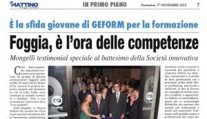 """Articolo da """"Il Mattino"""""""