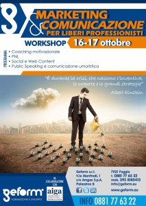 "Workshop ""Marketing & Comunicazione per Liberi Professionisti""  Locandina"